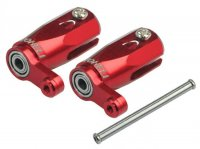 Main Blade Grip w/ Thrust Bearing/Steel Shaft (Red)-T-REX 150 DFC Model [MH-TX15102]