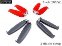 Helifactor 200QX 2-Blades Prop set ( 4 Blade Grips, 12 Blades)(HF200QX02)