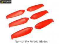 Helifactor 200QX Normal Foldable Blade -Red (6 pcs, 3R+3L) (HF200QX03RD)
