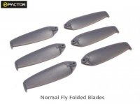 Helifactor 200QX Normal Foldable Blade - Grey (6 pcs, 3R+3L) (HF200QX03GY)