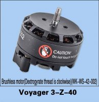 Walkera Voyager 3-Z-40 Brushless Motor (Dextrogyrate Thread Clockwise) (WK-WS-42-002)