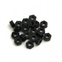 Nylon Hex Locknuts ナイロン六角ロックナット (M3 / Black / 20pcs) [03-662]