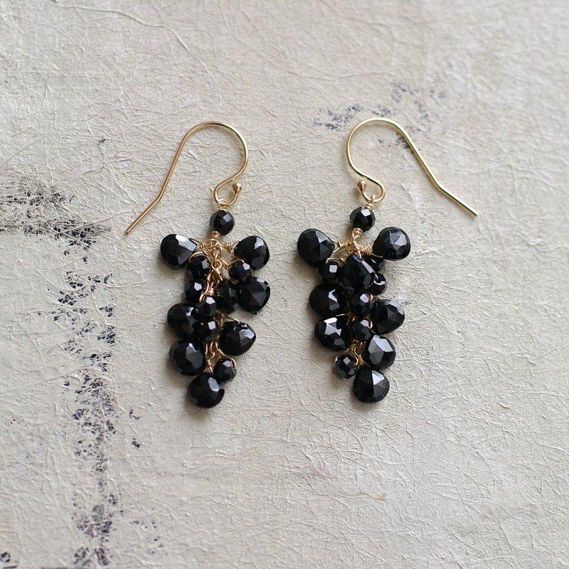 fusa : Black Spinel(earring)
