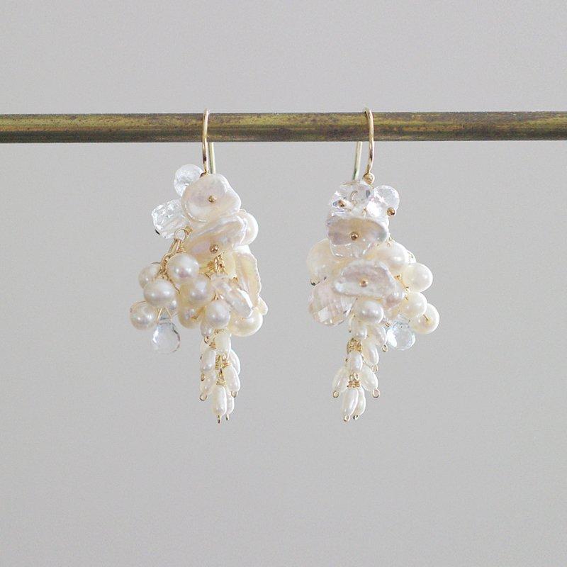 fusa : White Bouquet / 花 M(earring)
