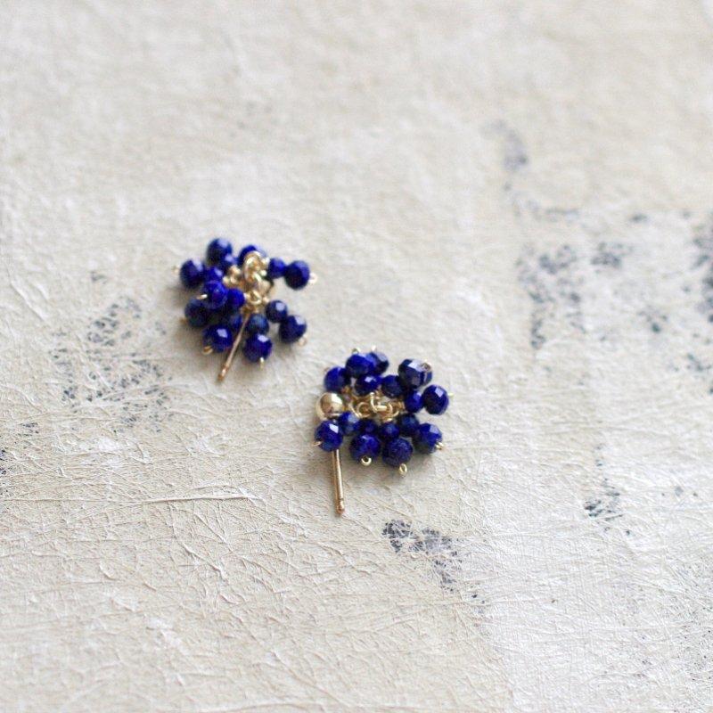 LapisLazuli ぱっと咲く(earring)