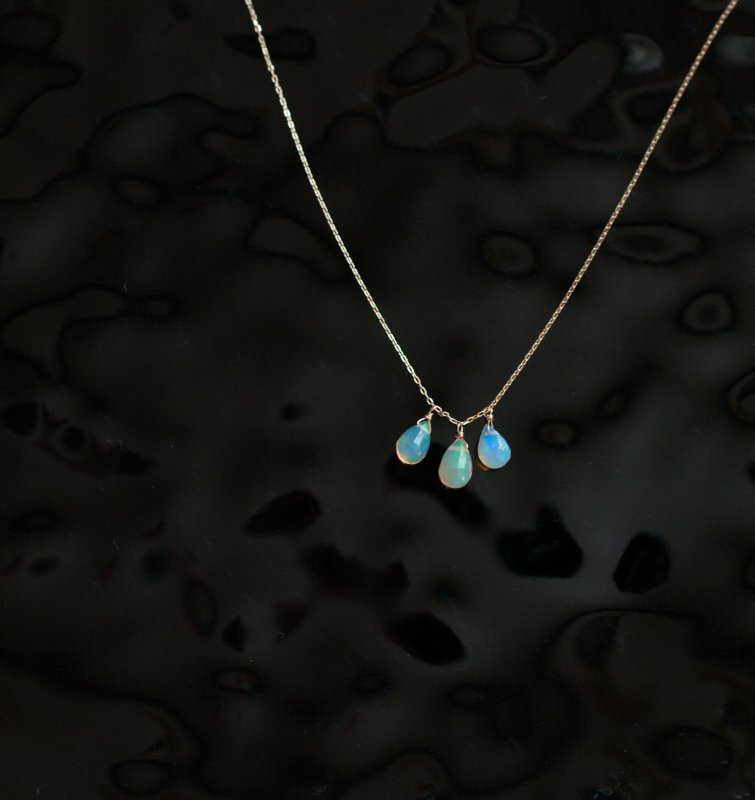 tsubu : Water Opal(necklace)