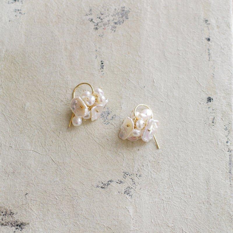 fusa : hira & keshi Pearl(earring)
