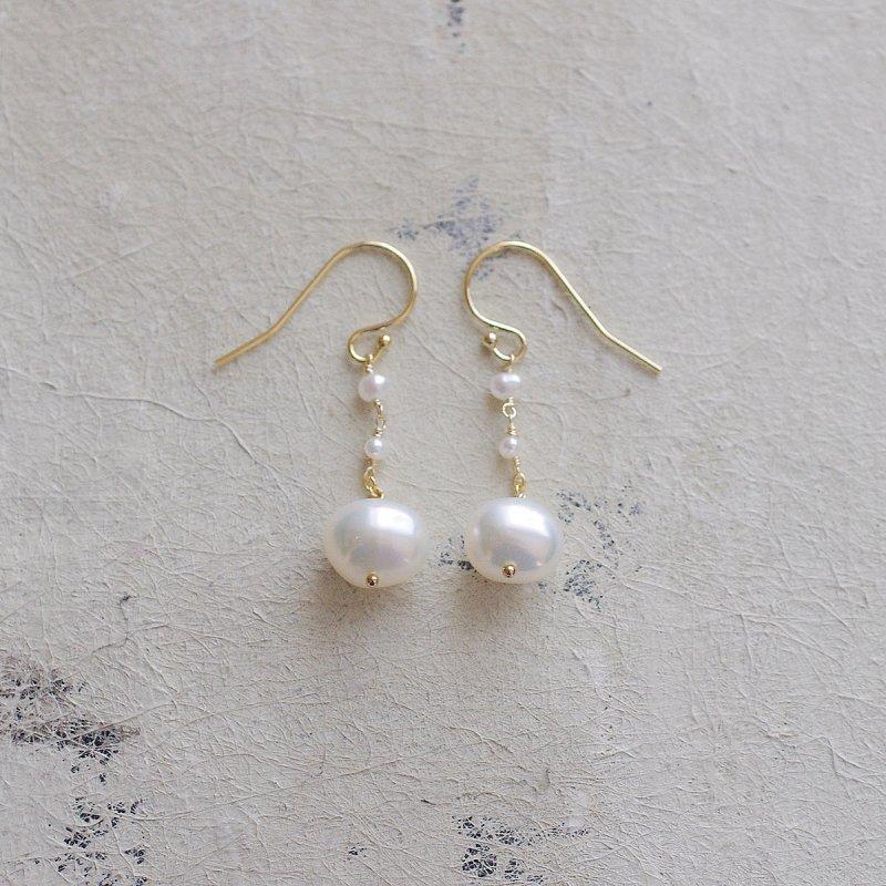Pearl maru a(earring)