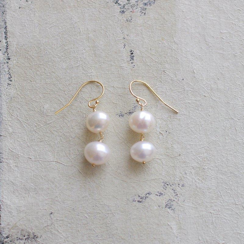 Pearl maru b(earring)