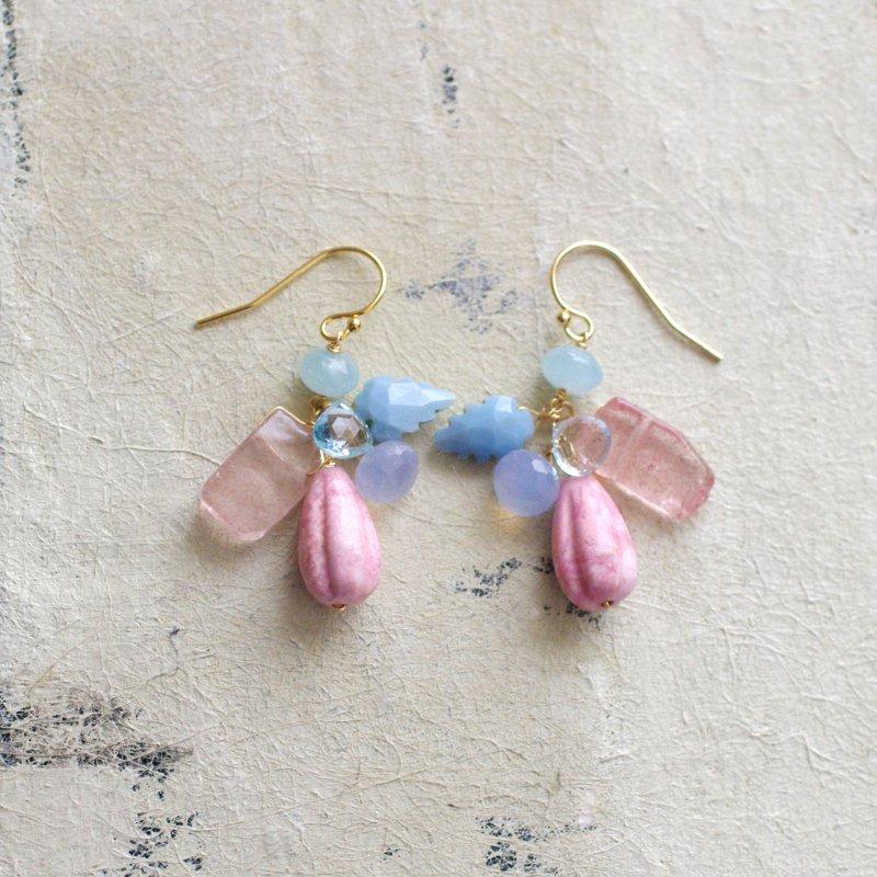 fusa : Spring Pink&Blue(earring)