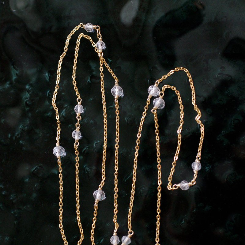 chain : WhiteTopaz(necklace)40・50・60 cm