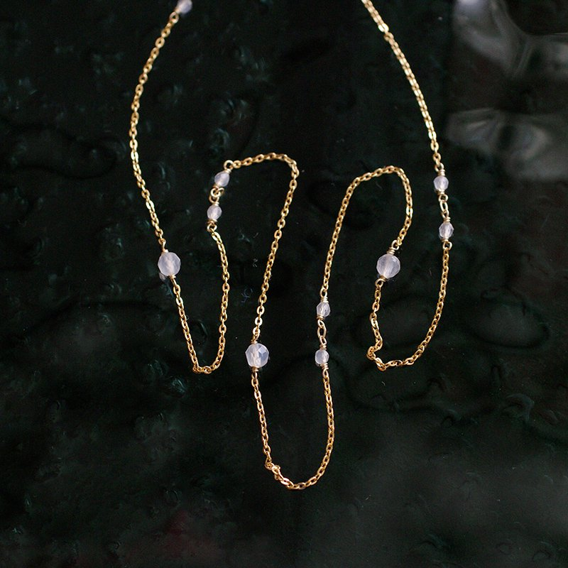 chain : WhiteChalcedony(necklace)40・50・60 cm