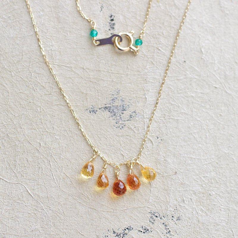 tsubu : Orange Sapphire gradation(necklace)