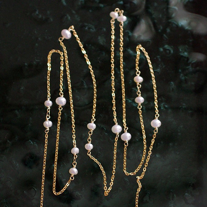 chain : WhitePearl(necklace)40・50・60 cm