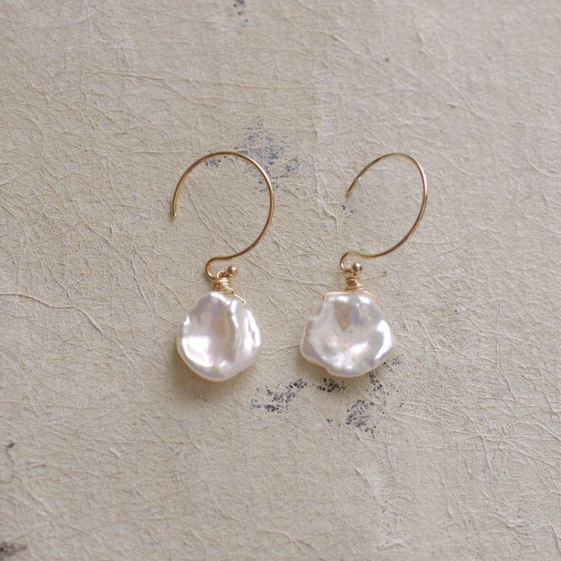 Pearl maru keshi(earring)
