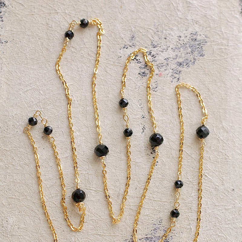 chain : Black Spinel(necklace)40・50・60 cm
