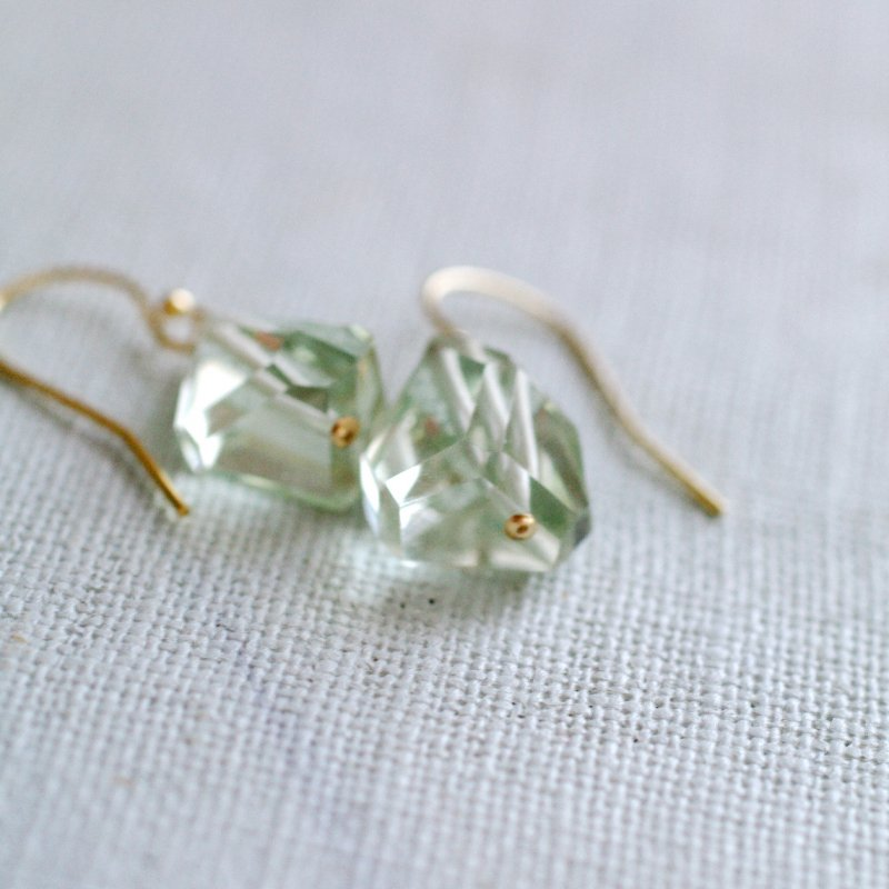 Green Amethyst(earring)