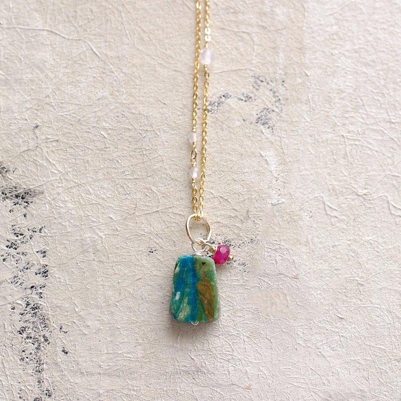 Blue Opal & Ruby(charms)