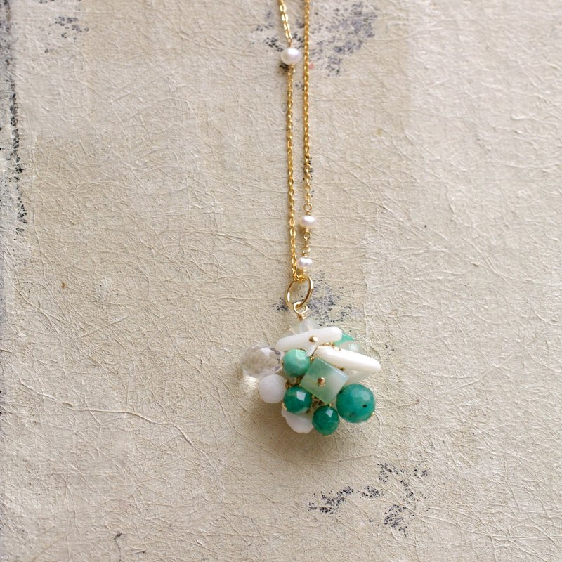 fusa : green Bouquet / 花 玉房(charms)