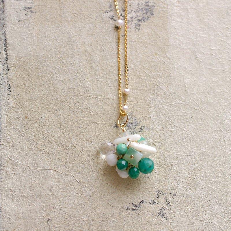 fusa : green Bouquet / 花 玉房(charms)