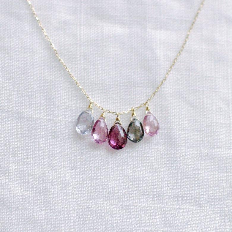 tsubu : Spinel5(necklace)
