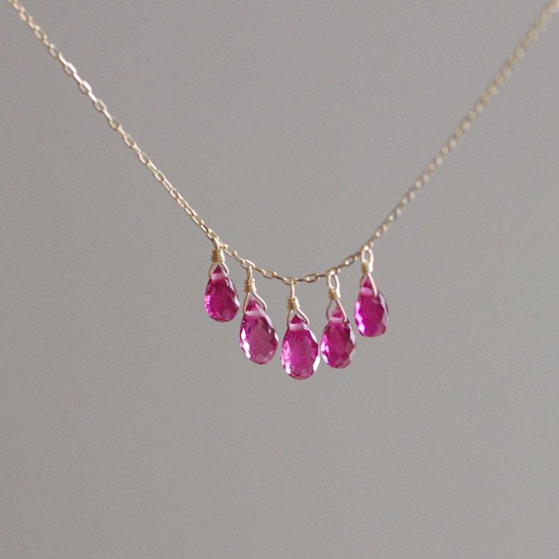 tsubu : pink Tourmaline(necklace)