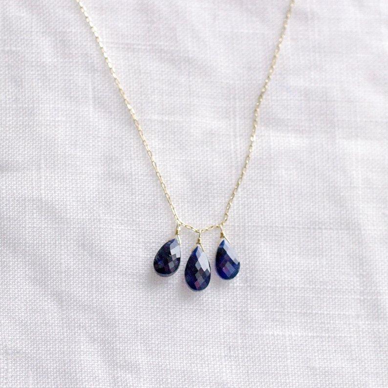 tsubu : Sapphire(necklace)