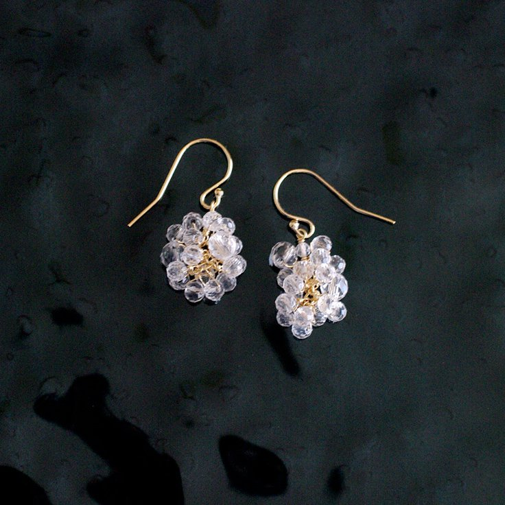 yamabudo : Crystal Tama(earring)
