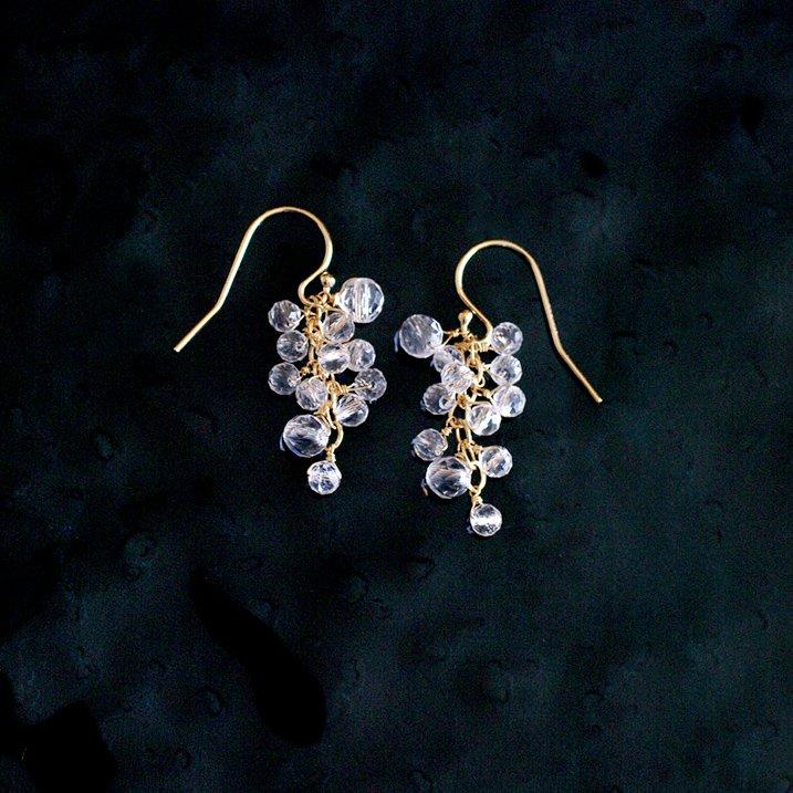 yamabudo : Crystal(earring)