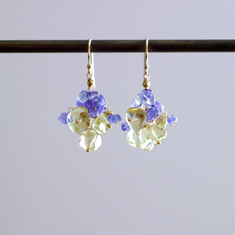 yamabudo : Lemon&Tanzanite(earring)