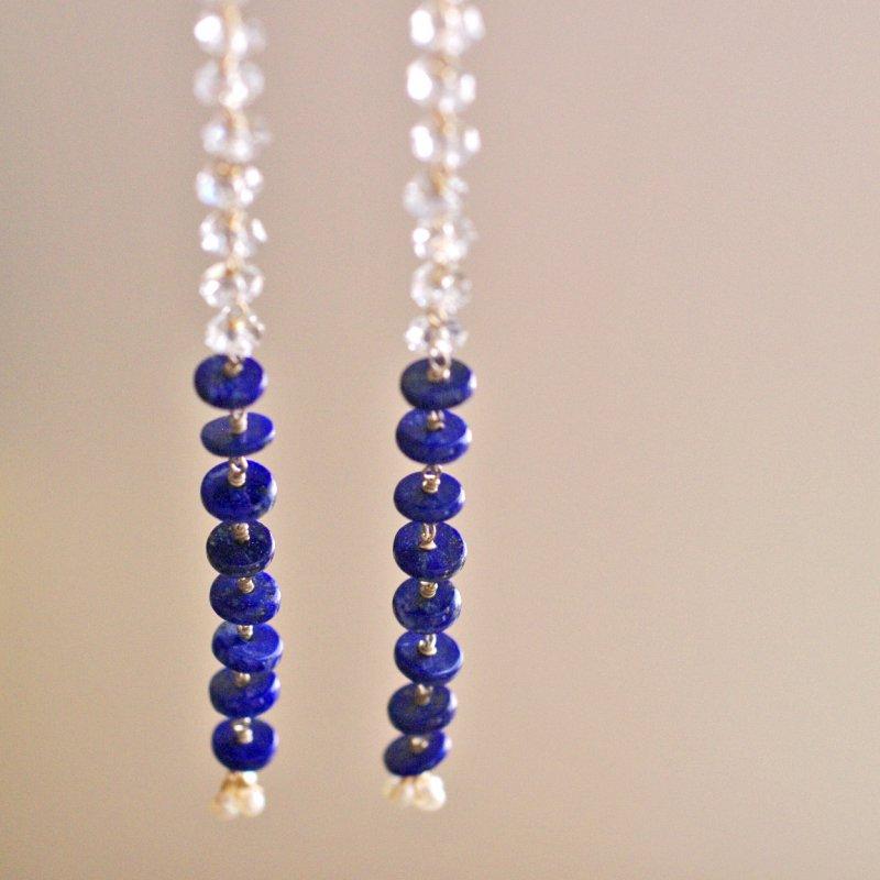 LapisLazuli , Crystal(earring)