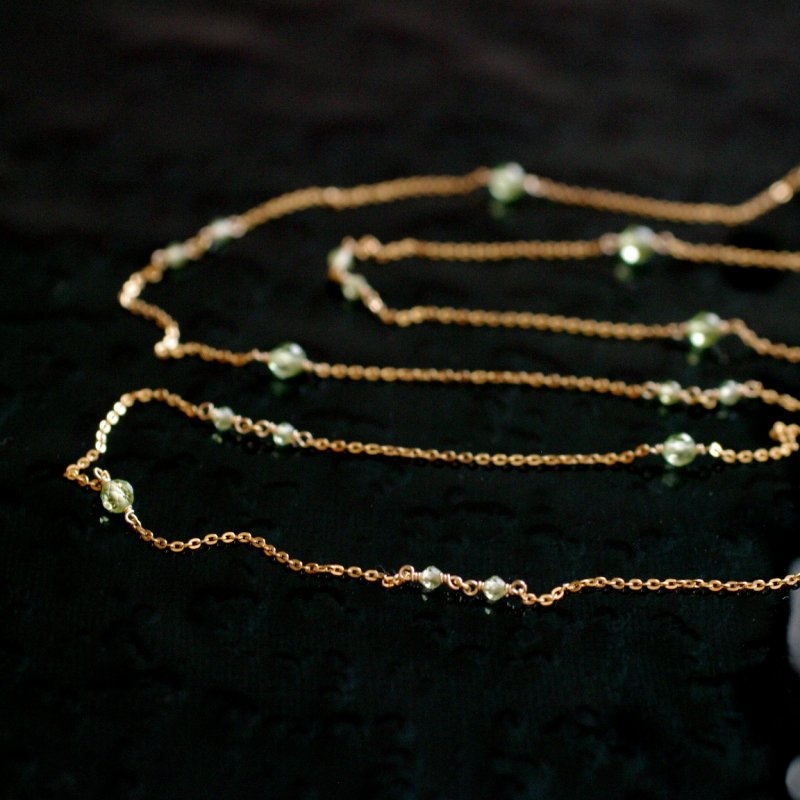 chain : Peridot(necklace)40・50・60 cm