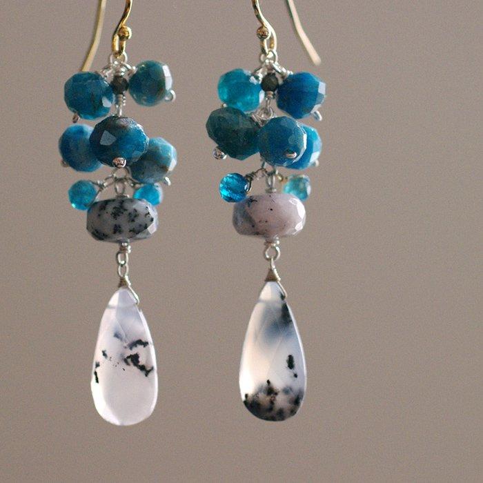 fusa : blue & white 3(earring)