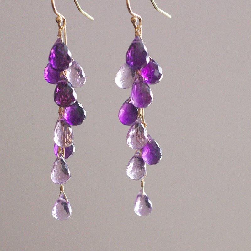 fusa :  twin Amethyst(earring)