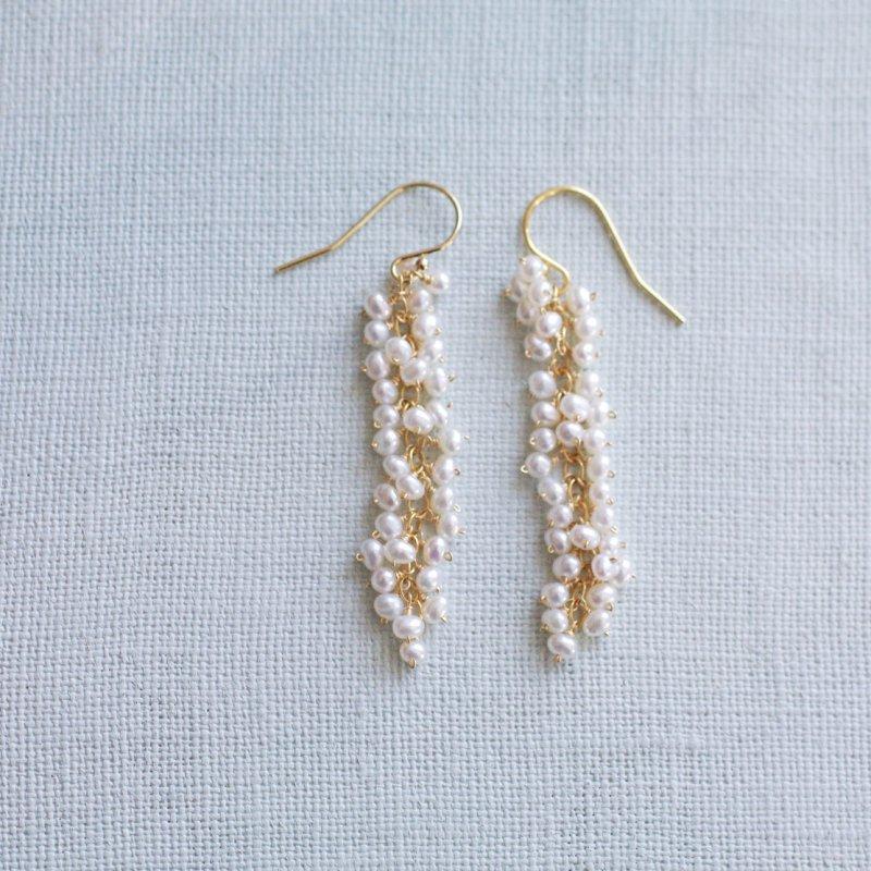 yamabudo : tiny Pearl(earring)