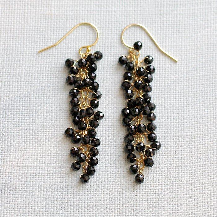 yamabudo : BlackSpinel(earring)