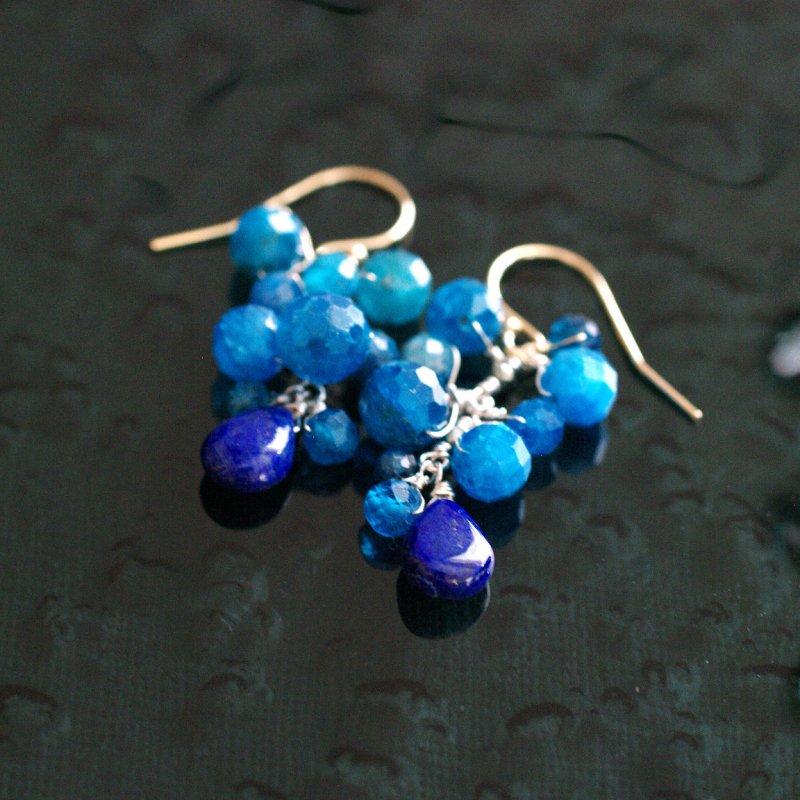 yamabudo : blue & blue 2(earring)