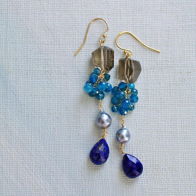 Night brown, Night blue(earring)