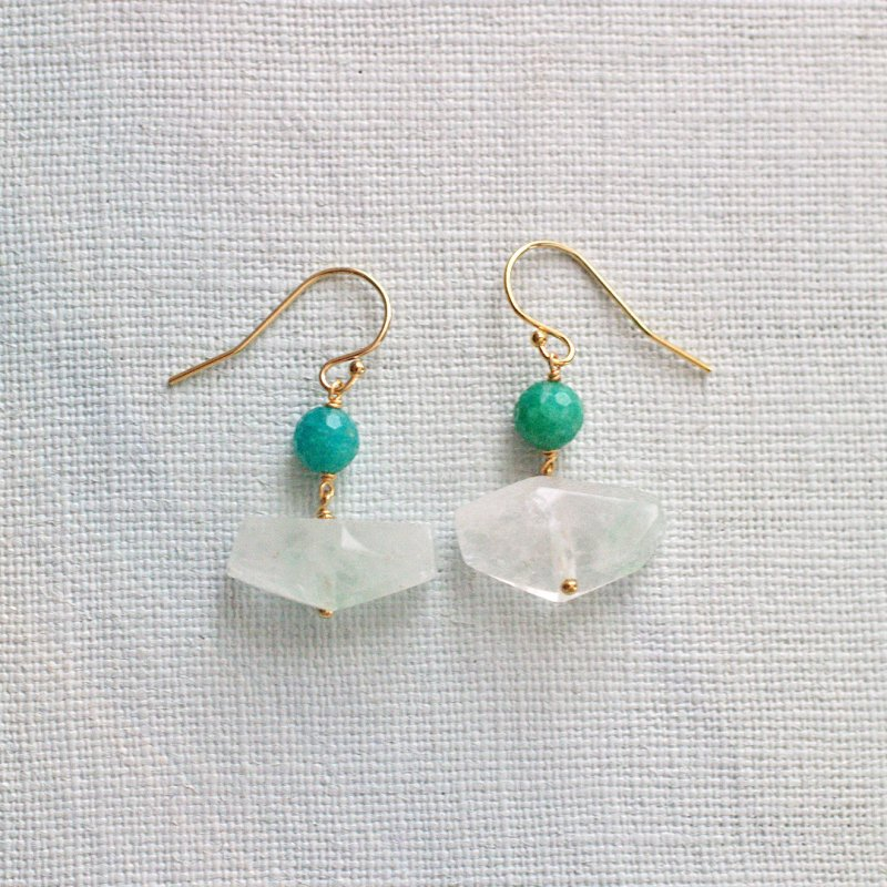 green Phantom, Amazonite(earring)