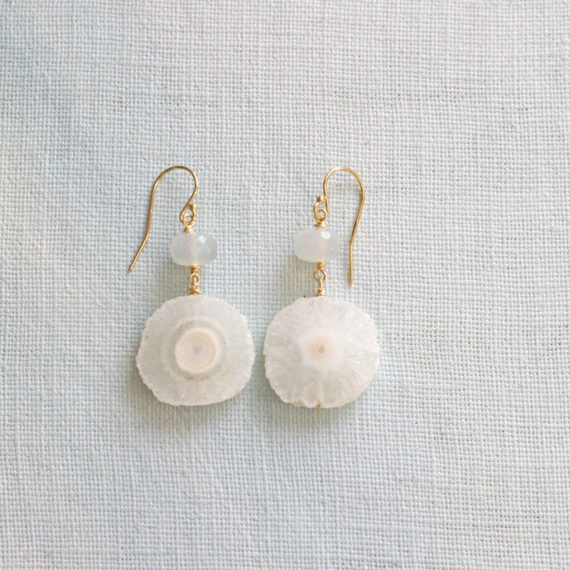 Spring White / Solar & Moon(earring)