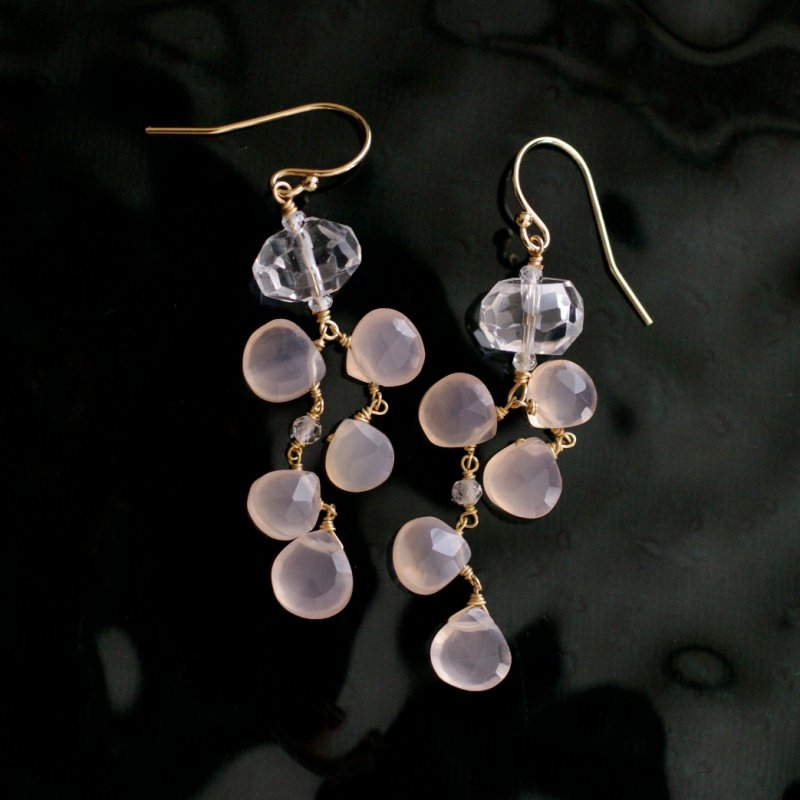 <img class='new_mark_img1' src='https://img.shop-pro.jp/img/new/icons8.gif' style='border:none;display:inline;margin:0px;padding:0px;width:auto;' />fusa : pinkChalcedony , Crystal(earring)
