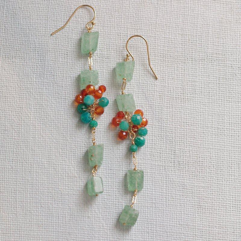 緑と橙(earring)