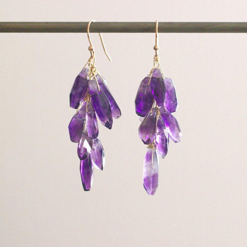 fusa : Amethyst(earring)