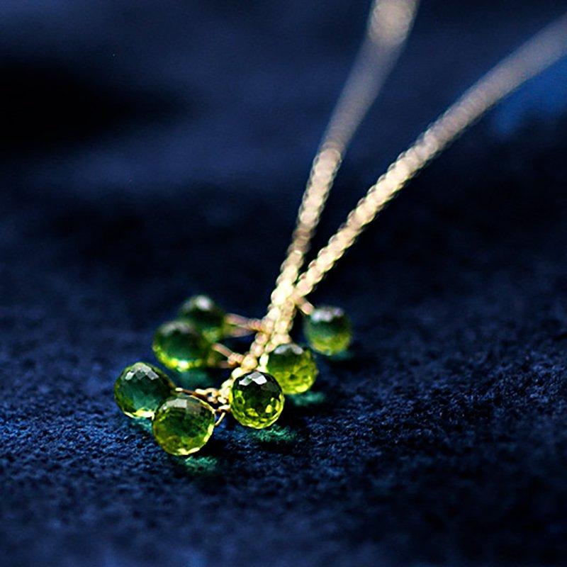 tsubu : Peridot7(necklace)
