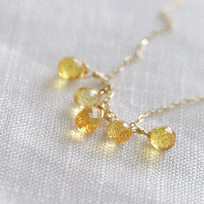 tsubu : yellow Sapphire(necklace)