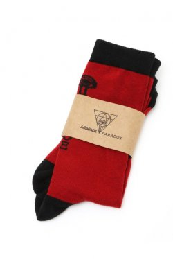 "【40%OFF】""LEGENDA"" × ""PARADOX"" -  MASON SOCKS (RED)"