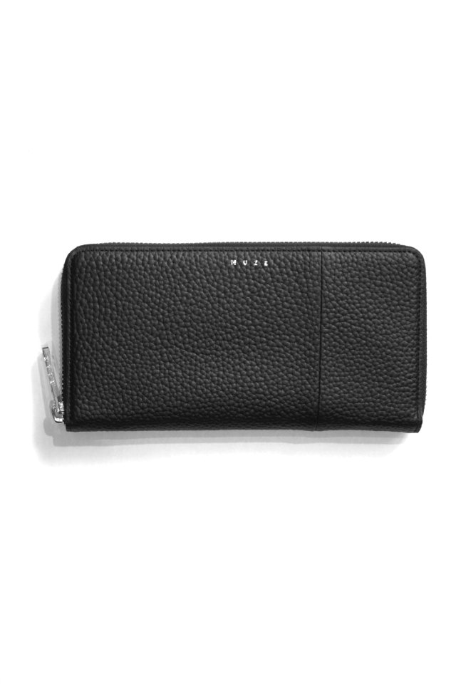 MUZE - LEATHER WALLET (BLACK × BLACK)