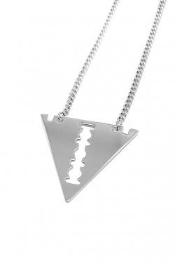 【40%OFF】PARADOX - RAZOR TRI NECKLACE (SILVER)