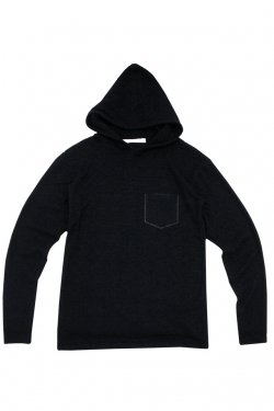 MUZE - HOODED L/S TEE (BLACK)