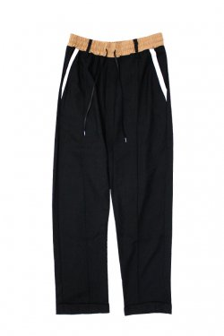 MUZE - TRACK EASY PANTS(BLACK)